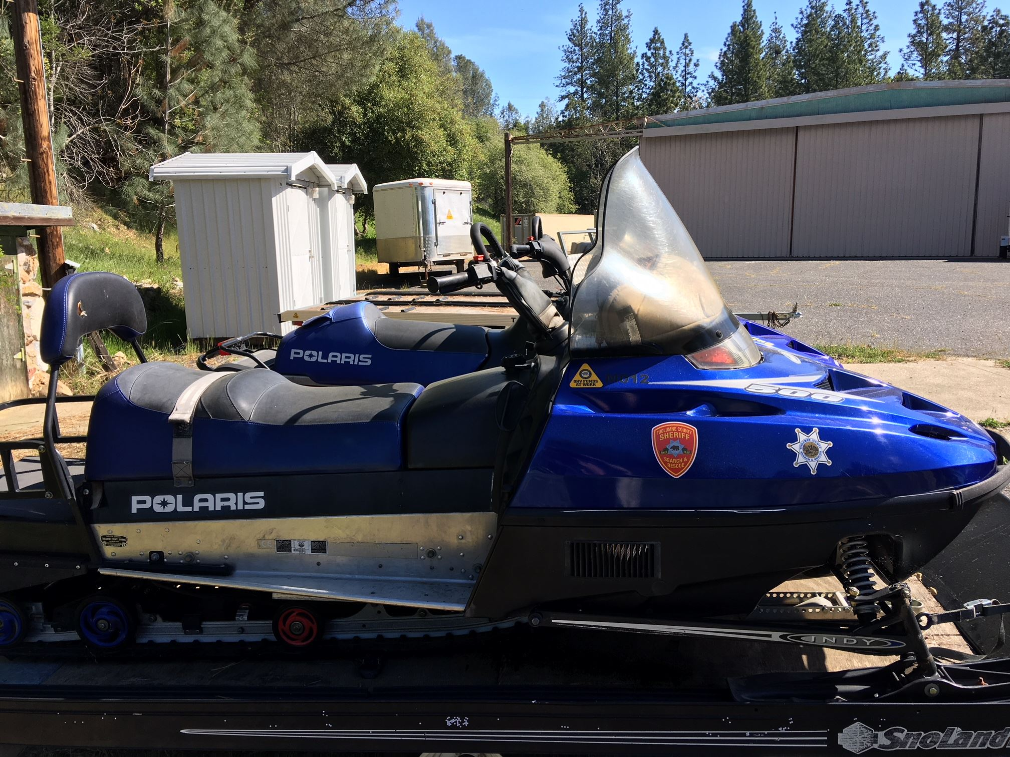 2001 Polaris 500 Snowmobile M012