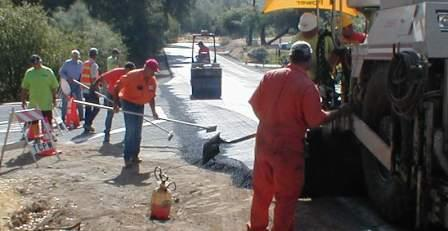 Paving on Rawhide Road